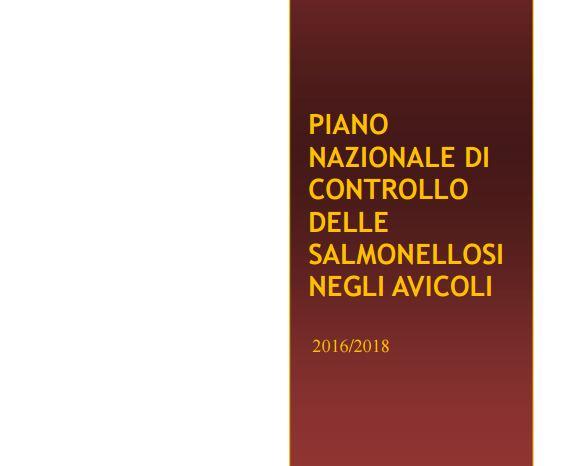 Piano Nazionale Salmonellosi 2016-2018 e Nota Regionale 02/02/2016